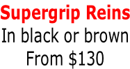 Supergrip Reins In black or brown From $130